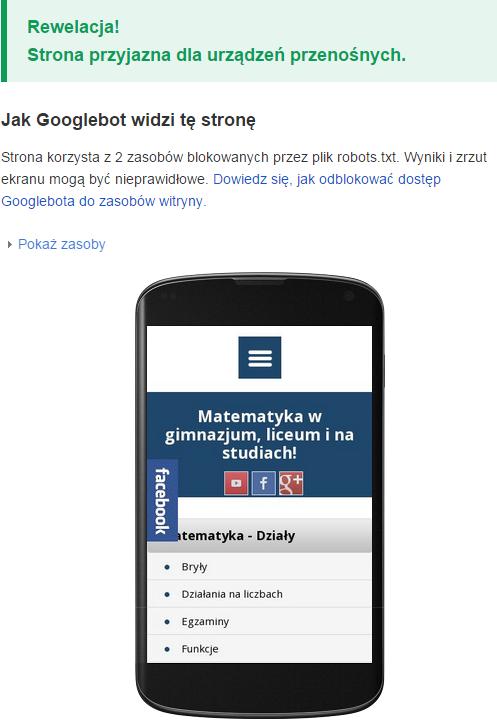 MatFiz24.pl przyjazna serwisom mobilnym