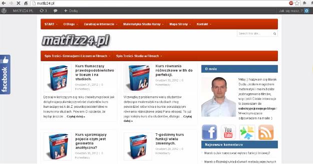 Szablon matfiz24.pl 2012