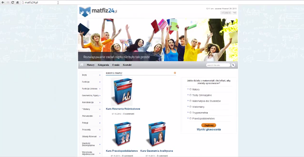 Szablon matfiz24.pl 2013