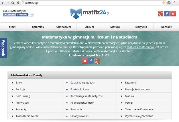 Szablon matfiz24.pl desktop 2015