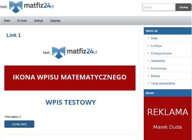 szablon wordpress rozbudowany o widgety