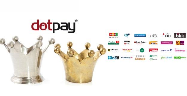 szybkie płatności przelewem bankowym i sprzedaż na blogu Wordpress przez Dotpay