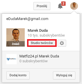 kanał youtube Marek Duda