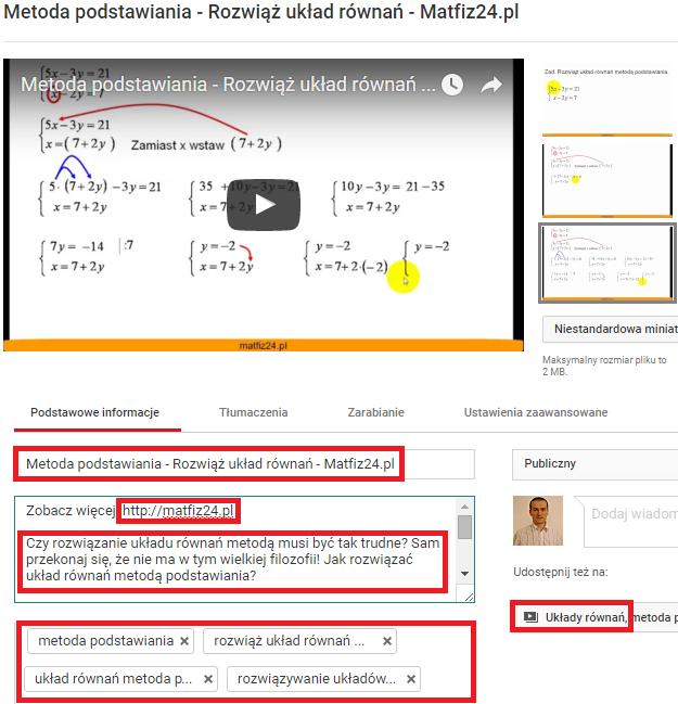 pozycjonowanie i optymalizacja filmów na youtube
