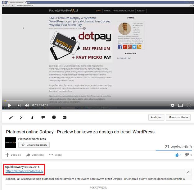 link w youtube