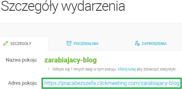 adres pokoju clickmeeting