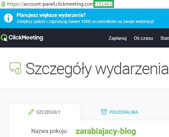 id pokoju clickmeeting