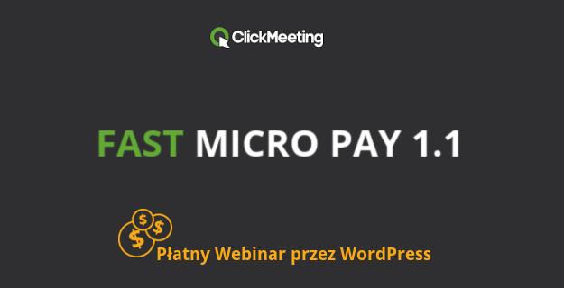 płatny webinar clickmeeting przez wordpress