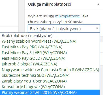 wybierz usługę płatności za webinar clickmeeting
