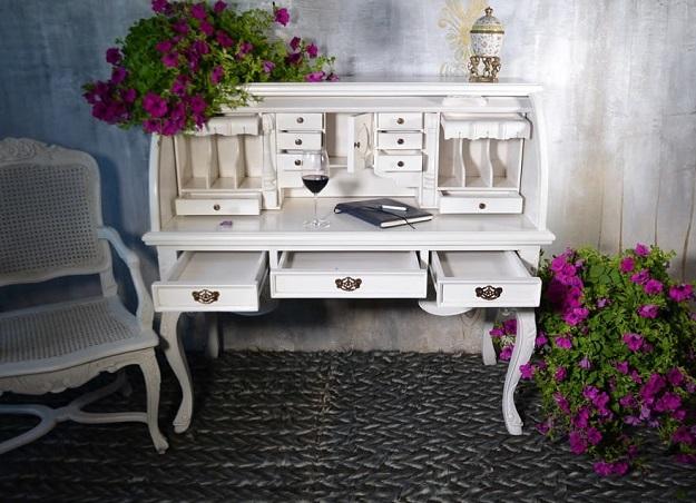 biurko gabinetowe styl francuski z nadstawką