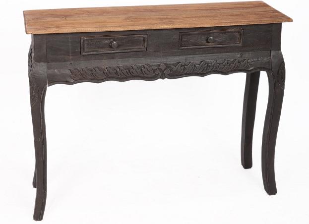 drewniana konsola stolik czarny stylowy