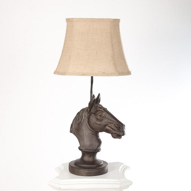 lampa retro z koniem